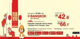 Lion Air mở bán vé đi Thái Lan giá rẻ năm 2018