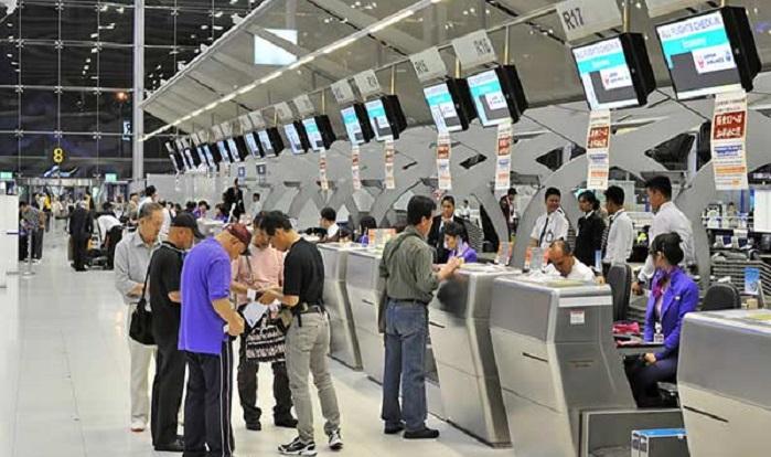 Khu vực check in tại sân bay Suvarnabhumi Airport