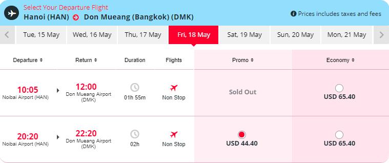 Vé máy bay Hà Nội đi Bangkok