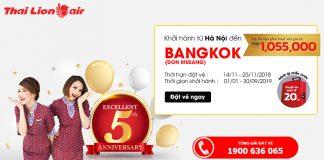 Khuyến mãi từ Hà Nội đến Bangkok 45 USD
