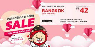Vé máy bay khuyến mãi đi Bangkok nhân dịp Valentines