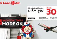 Vé máy bay khuyến mãi giảm 30% từ Thailion Air