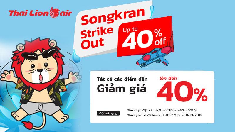 Giảm giá 40% nhân dịp lễ hội Songkran